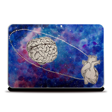 Brain over heart Laptop Skins | Artist : Devi