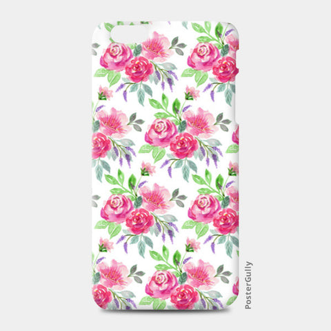 Elegant Pink Roses Spring Floral Watercolor Pattern iPhone 6 Plus/6S Plus Cases | Artist : Seema Hooda
