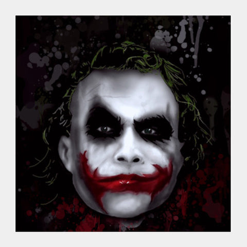 Joker Square Art Prints | Artist : Lobo Square Art Prints | Artist : Lobo