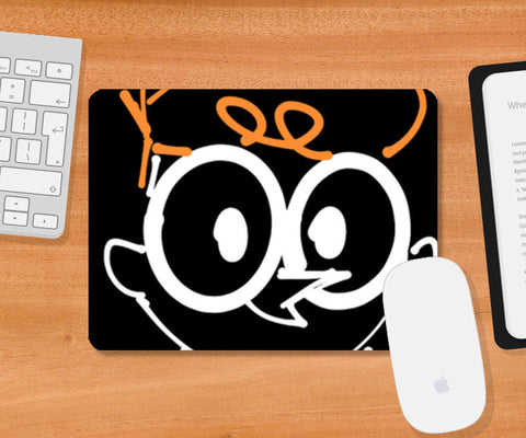 Dexter Laboratory Minimal Sketch Doodle Artwork (Childhood/Cartoon) Mousepad | Artist : Looks Good = Feels Good