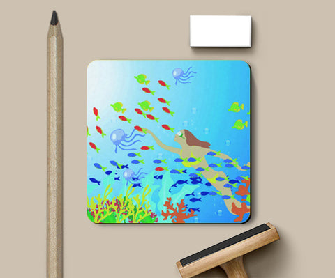 Coasters, amazing water world Coasters | Artist : Vidhisha Kedia, - PosterGully