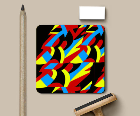 Abstract Colors Coasters | Artist : Nisha Prabhu