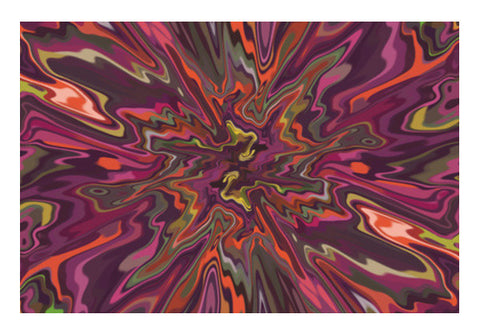 Psychedelic Colorful Digital Marble Abstract Background Art PosterGully Specials