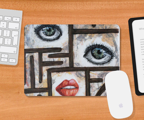 Maze behind my face Mousepad | Artist : Anitha Vallikunnel