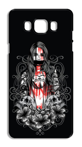 Girl With Tattoo Samsung Galaxy J7 2016 Cases | Artist : Inderpreet Singh