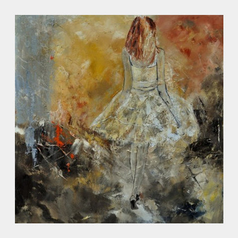 Walking Square Art Prints | Artist : pol ledent