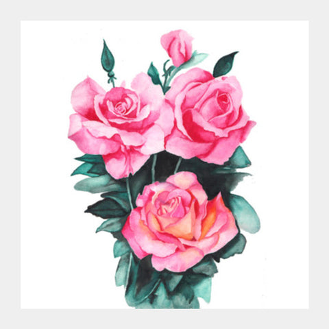 Square Art Prints, roses Square Art Prints | Artist : Somin Jain, - PosterGully