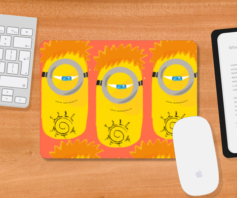 Mousepad, Minion Shadow clones at peace Mousepad | Artist: saurabhzuve, - PosterGully