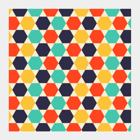 Multi colored repetition shape background Square Art Prints | Artist : Designerchennai