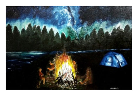 Camping under the beautiful sky Wall Art  | Artist : Mohor