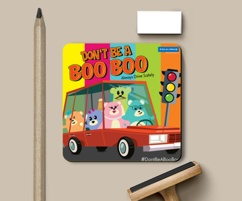 Coasters, Don't Be A Boo Boo Family - Drive Safely Coasters | Artist : Don't Be A Boo Boo, - PosterGully