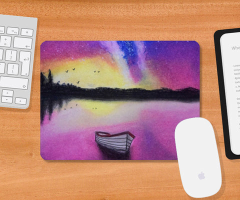 Night Sky Painting Mousepad | Artist : Rahul Tanwar