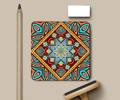 Coasters, Colourful Mandala Coasters | Artist : Madhumita Mukherjee, - PosterGully