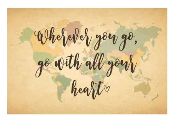World Map With Text Quotes Wall Art PosterGully Specials