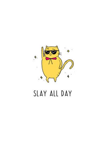 Slay All Day Cat Wall Art | Artist : Anjali Nilakantan