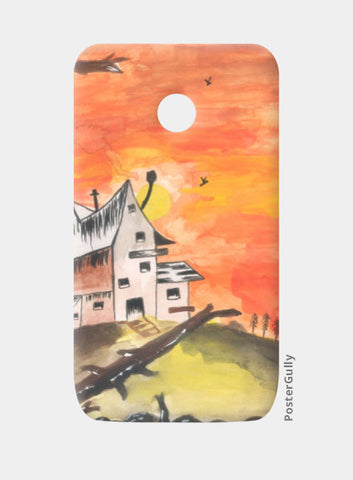 Moto E Cases, Haunted House Moto E Case | Artist: Teena Chauhan, - PosterGully