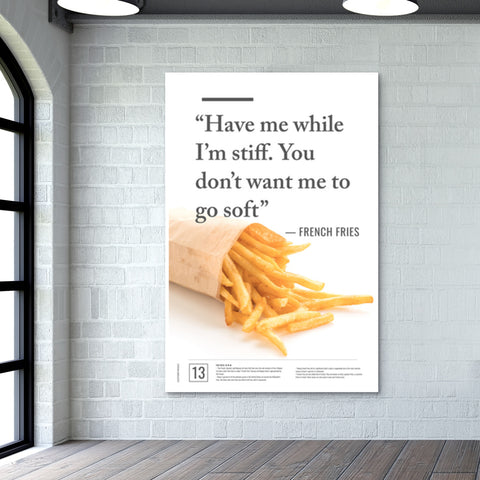 Junk Seduction_French Fries Giant Poster | Artist : Scatterred Partikles