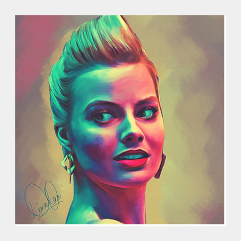 Margot Robbie Square Art Prints PosterGully Specials
