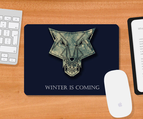 winter is coming Mousepad | Artist : Nazria Banu