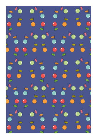 PosterGully Specials, Seamless fruits pattern Wall Art | Artist : Designerchennai, - PosterGully