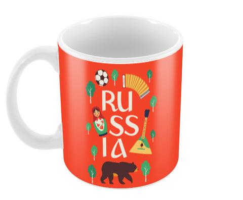 Russian Symbols Fifa 2018 | #Footballfan Coffee Mugs | Artist : Creative DJ