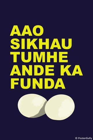 Wall Art, Ande Ka Funda, - PosterGully