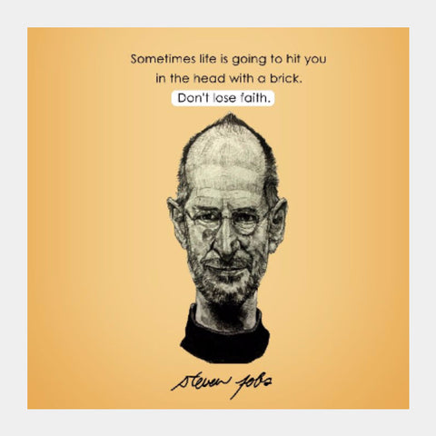 Square Art Prints, Steve Jobs | Artist Name: Pushkar Priyadarshi, - PosterGully