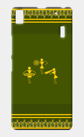 beautiful warli folk art Lenovo K3 Note Cases | Artist : Niharika Shenoy