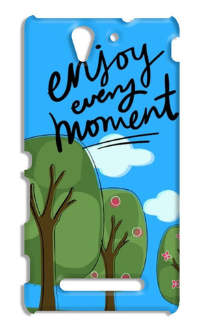Enjoy every moment Sony Xperia C3 S55t Cases | Artist : Pallavi Rawal