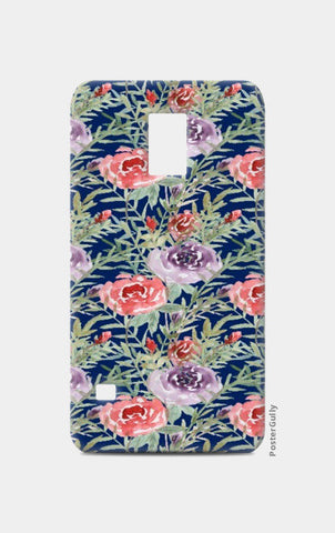 Samsung S5 Cases, Elegant Blue Floral pattern Samsung S5 Cases | Artist : Seema Hooda, - PosterGully
