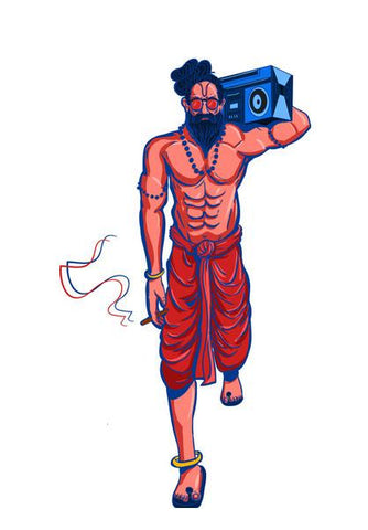 PosterGully Specials, Hipster Yogi Wall Art | Artist : Malay Jain, - PosterGully