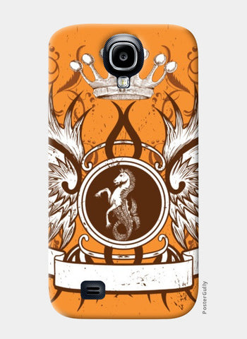 Samsung S4 Cases, horse with wing,Crown and Floral Samsung S4 Cases | Artist : Anshuraj Tyagi, - PosterGully