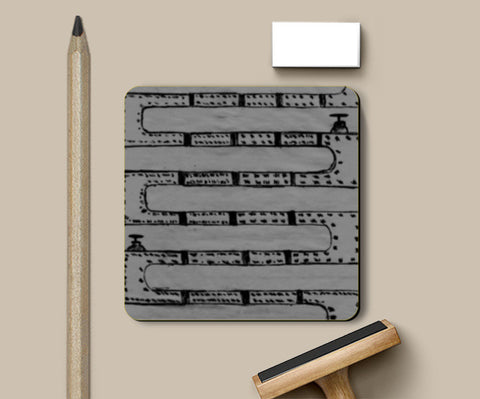 Pipeline Grey Coasters | Artist : prat