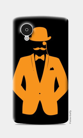 Nexus 5 Cases, HOLLOW MAN-ORANGE Nexus 5 Cases | Artist : Sonia Punyani, - PosterGully