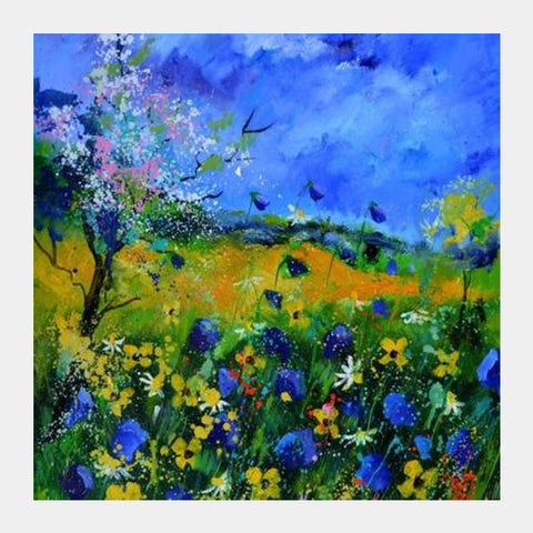 Wild Flowers 677150 Square Art Prints PosterGully Specials