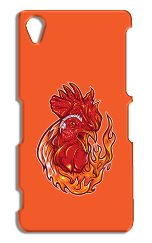 Rooster On Fire Sony Xperia Z2 Cases | Artist : Inderpreet Singh
