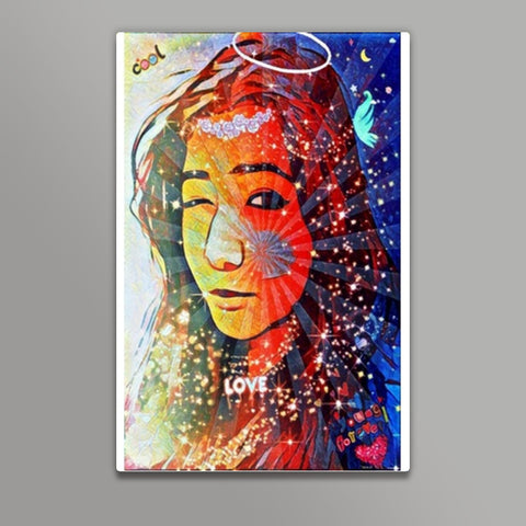 Quirky Goddess | Digi Art |  Metal Prints | Artist : Nandini Rawat