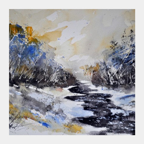 watercolor 3132 Square Art Prints | Artist : pol ledent