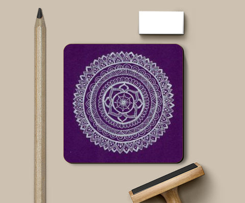 PosterGully Coasters, mandala Coasters | Artist : The Doodler dentist, - PosterGully