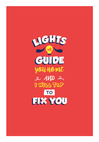 Coldplay Fix You Wall Art | Artist : Arif Ahmad