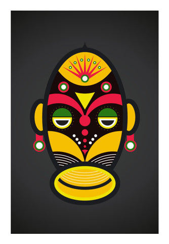 African Traditional Tribal Mask Art PosterGully Specials