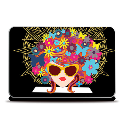 Butterfly Girl Laptop Skins | Artist : Design_Dazzlers