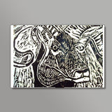 The Ram- Linocut Wall Art  | Artist : Papo Mukherjee