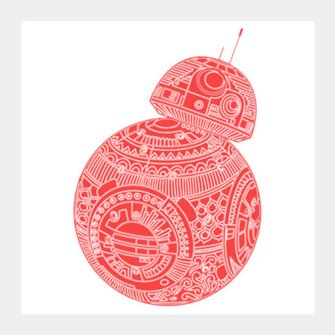 BB8 STAR WARS Square Art Prints | Artist : GRAFIIKKA
