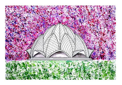 PosterGully Specials, Lotus Temple Wall Art  | Artist : Rahul Tanwar, - PosterGully
