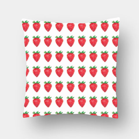 Cushion Covers, Strawberry Pattern Cushion Cover | Artist: Anuja Katti, - PosterGully