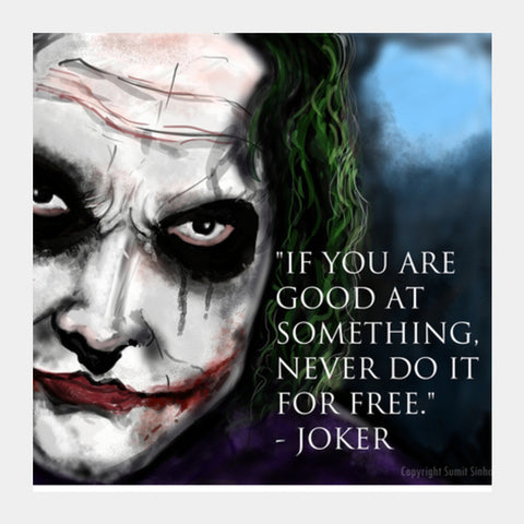 Joker's Advice Square Art Prints | Artist : Draw On Demand
