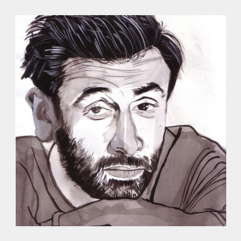 Ranbir Kapoor Has The Right Attitude To Make It Big Square Art Prints PosterGully Specials