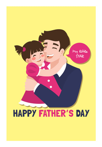 Cute Daughter And Father Father's Day | #Father's Day Special  Wall Art | Artist : Creative DJ
