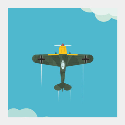 German Luftwaffe ww2 Square Art Prints | Artist : Himanshu Sood
